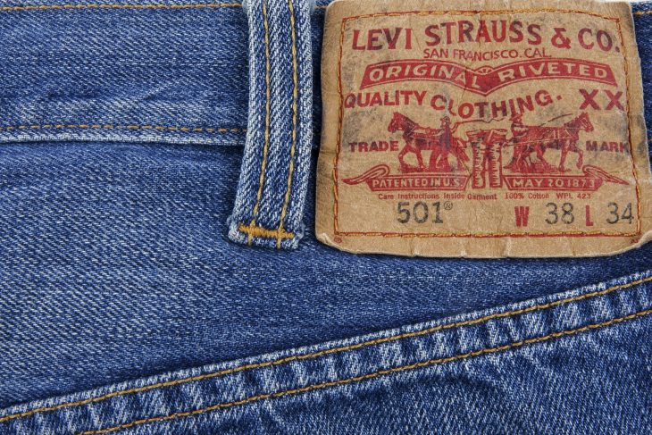 Levi's 501 Jeans tag