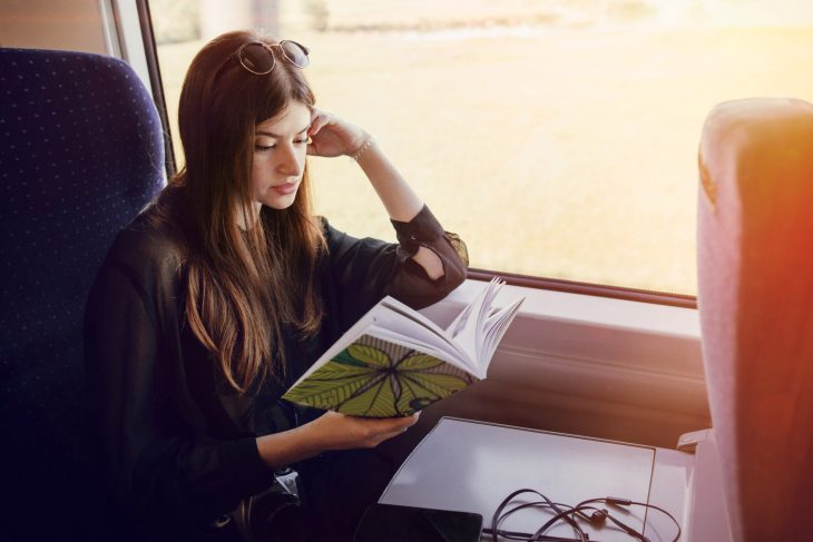 Reading on the train