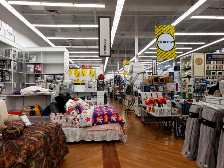 Inside view of Bed, Bath and Beyond