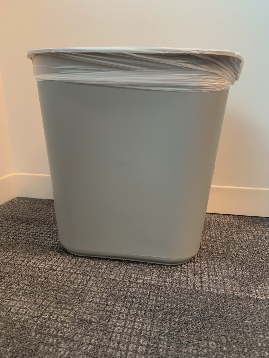 Small indoor trash can