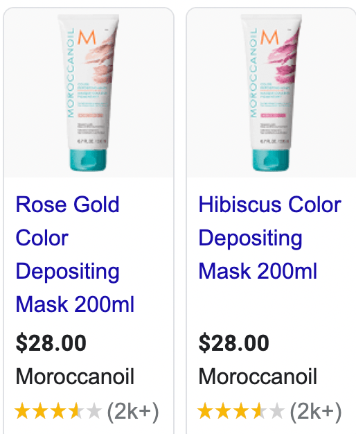Morroccan oil color depositing mask