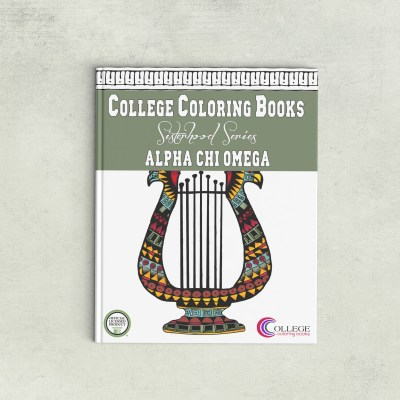 College Coloring Books Alpha Chi Omega Coloring Book