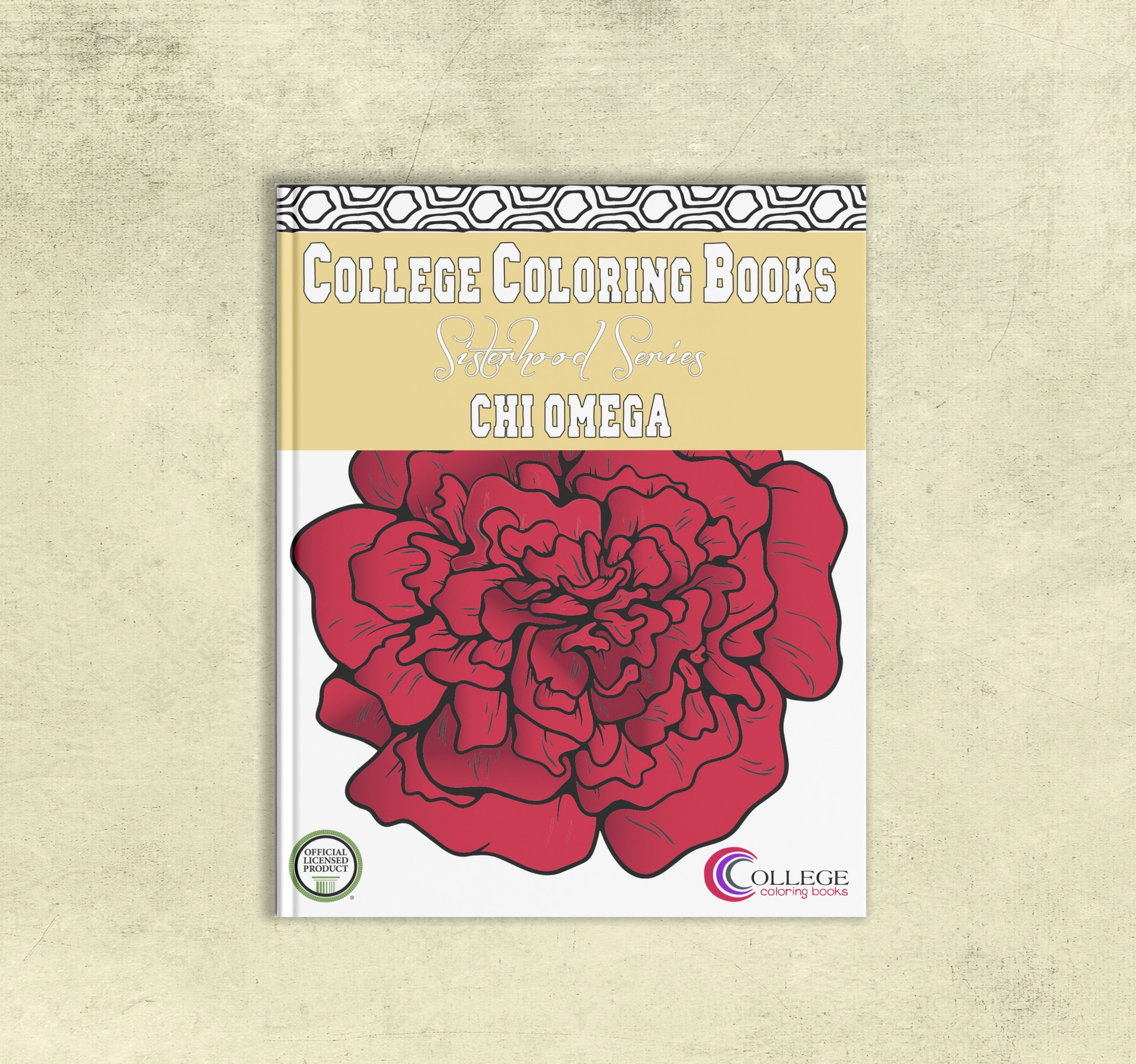 Book Cover For College : Chi omega adult coloring book college books