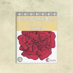 College Coloring Books Chi Omega Coloring Book Cover - Front