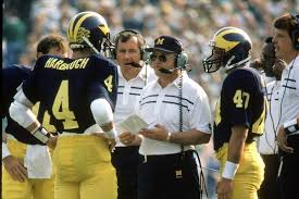 jim harbaugh at michigan with bo