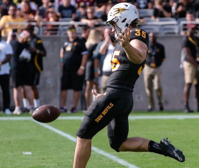 Michael Turk Of Arizona State Punts Remaining Eligibility Heads