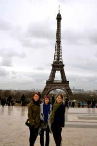 Students studying abroad in Paris, France