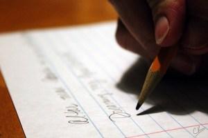 Student writes college essays