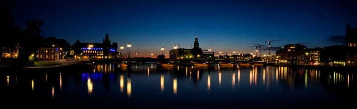 Stockholm at night.