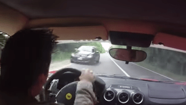 Ferrari F430 Almost Crash