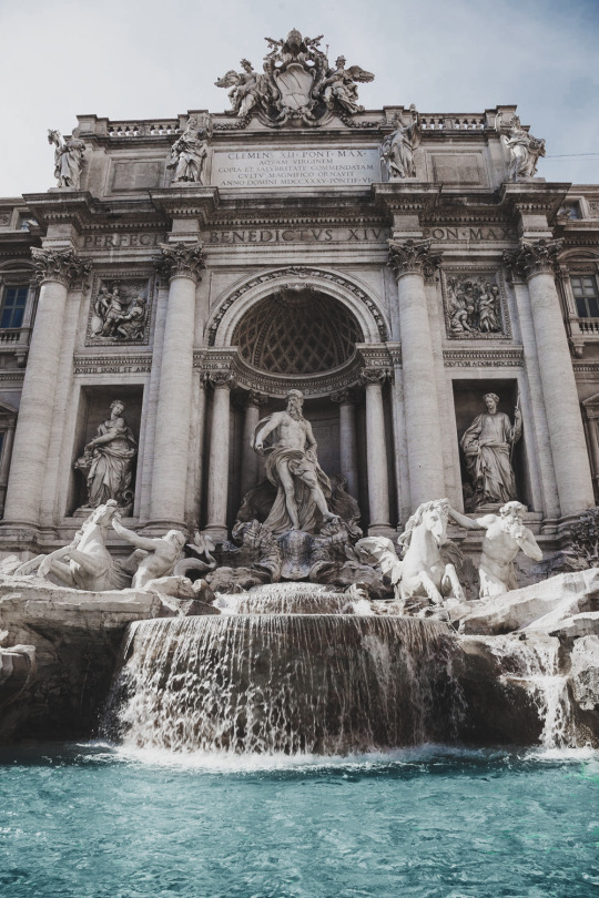 Trevi Fountain is a fountain in the Trevi district in Rome, Italy. It is the largest Baroque fountain in the city and one of the most famous fountains in the world.
