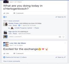 Extrait de conversations sur le groupe fermé Facebook