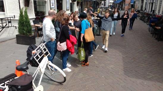 Pendant le rallye dans le centre de 's-Hertogenbosch