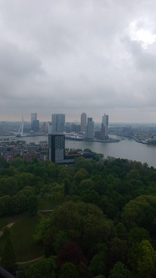 Vue d'une partie du port de Rotterdam, depuis la Tour Euromast