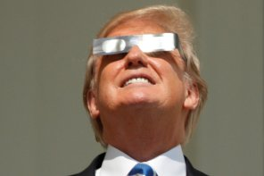 Sun Recovering After Looking Directly at Trump