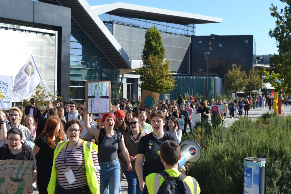 Climate Change Protest in UCD