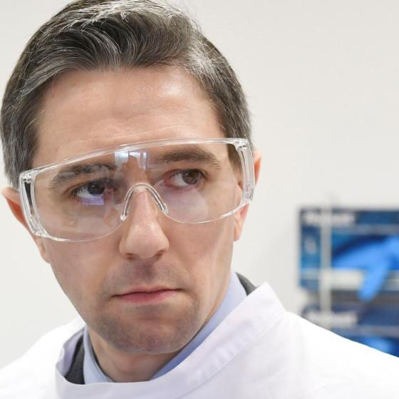 Simon Harris in goggles