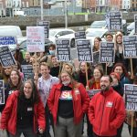 UCDSU Lead Protest Outside Dublin City Council Offices