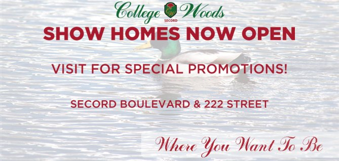 College Woods Secord Showhome Now Open!