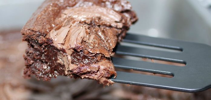 Nutella-swirled brownies