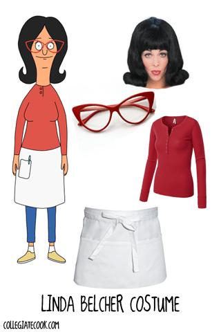 Linda Belcher, Bob's Burgers Costume Ideas via CollegiateCook.com