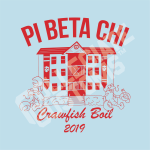 Pi Beta Chi Crawfish Boil Design