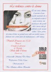 Manifesto evento violenza sulle donne