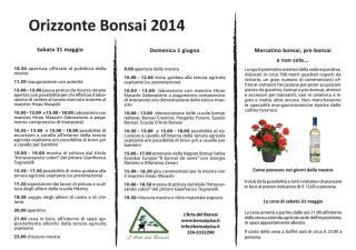 Manifesto Orizzonte Bonsai 2