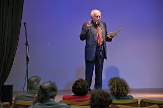 Il prof. Alessandro Marchi durante il suo intervento