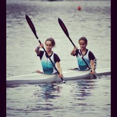 le sorelle AGOSTINETTI Canoa Club Stagno