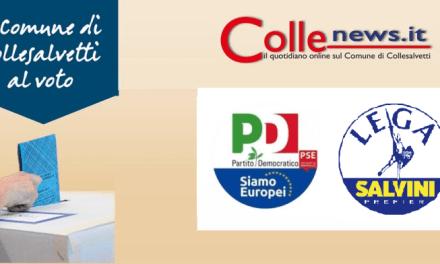 ELEZIONI EUROPEE: PD E LEGA I PARTITI PIÙ VOTATI NEL COMUNE DI COLLESALVETTI