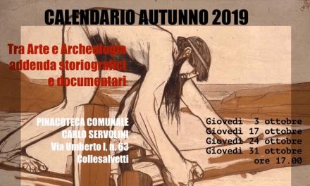 ALLA PINACOTECA SERVOLINI DI COLLESALVETTI AL VIA IL CALENDARIO AUTUNNO 2019
