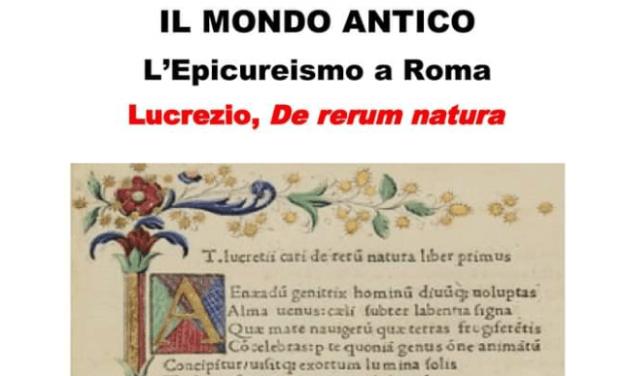 """A COLLESALVETTI LA CONFERENZA """"IL MONDO ANTICO – L'EPICUREISMO A ROMA…"""""""