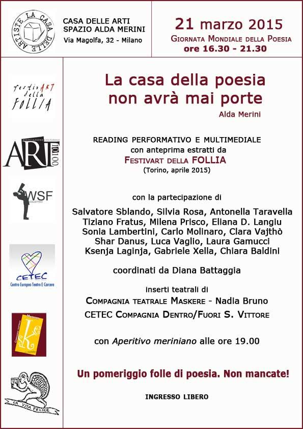 La casa della poesia non avrà mai porte - Milano 21 marzo 2015