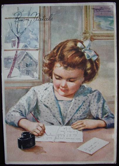 Buon Natale Anni 50.Buon Natale Cartolina Anni 50 Letterina Bn035 Collezione Online