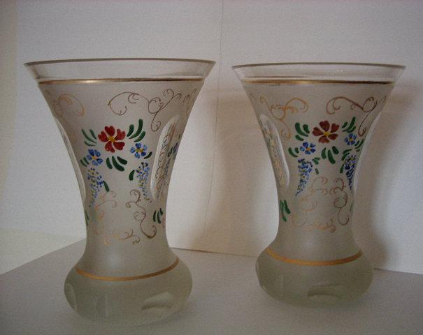 Coppia di antichi vasi lavorati e dipinti epoca 800 for Vasi antichi