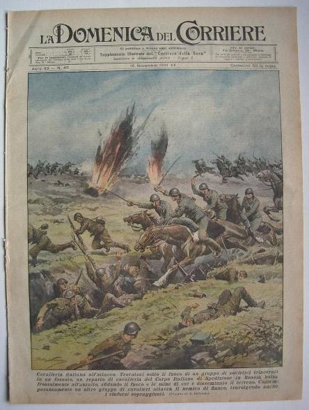 353c9d6558ed La Domenica del Corriere n.46 1941 Cavalleria italiana all attacco ...
