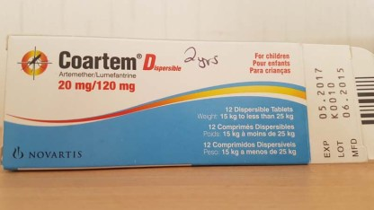 Malaria medicine for toddlers