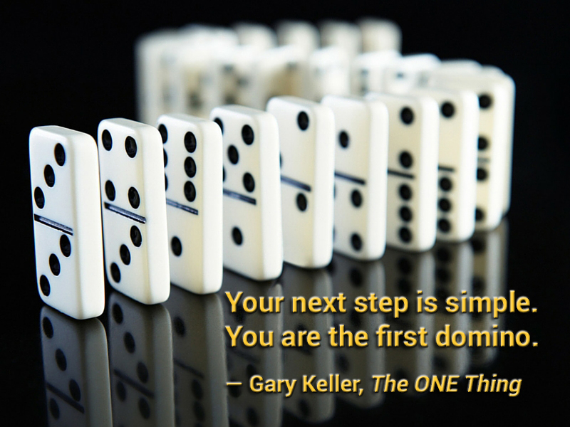 You are the first domino in the line