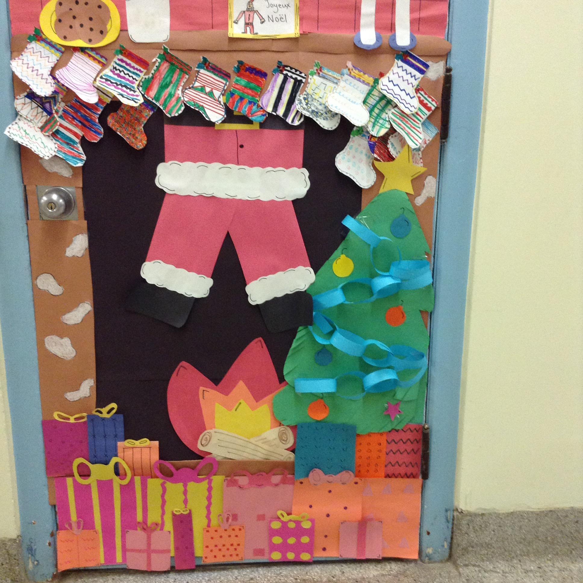 Classroom Christmas Door