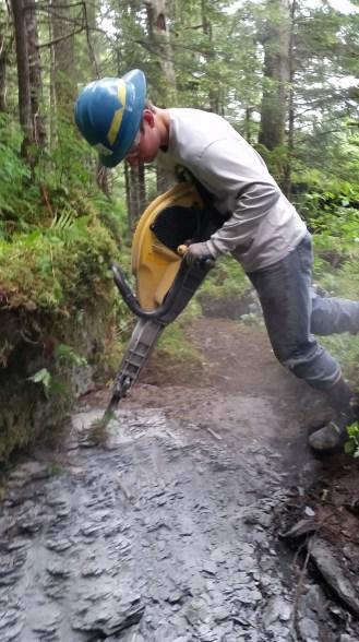 Eyak River Trail jackhammer Luke