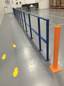 Collins Metal Fabrication Industrial 113 Protective Metal Safety Bollards Railings