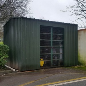 Collins Metal Fabrication Security 202 Metal Security Shed