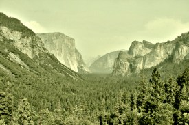 El Cap and Half Dome