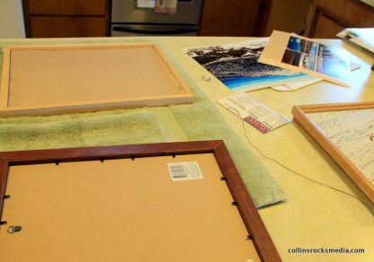 Preparing frames for photos