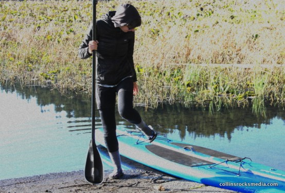 Preparing for a paddle