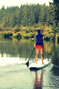 Allison Ginn's first paddle