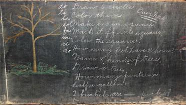 collinwood fire blackboard with tree oklahoma city old