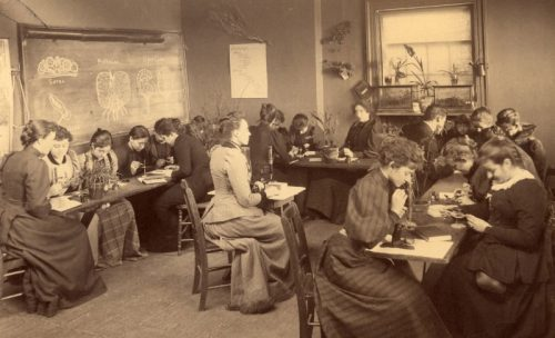 class-in-natural-science-miss-schreiber-instructor-cropped--c1900