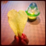 Day 25: Something Cute. Heart shaped potato chip. The random things I find cute.